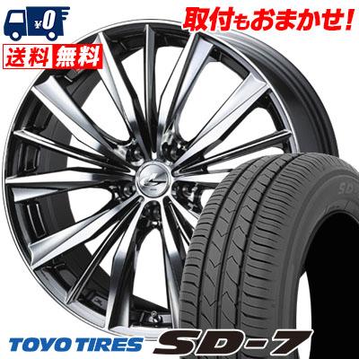 225/45R18 91W TOYO TIRES トーヨー タイヤ SD-7 エスディーセブン weds LEONIS VX ウエッズ レオニス VX サマータイヤホイール4本セット