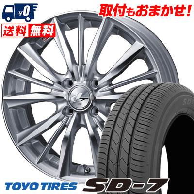 185/55R15 82V TOYO TIRES トーヨー タイヤ SD-7 エスディーセブン weds LEONIS VX ウエッズ レオニス VX サマータイヤホイール4本セット