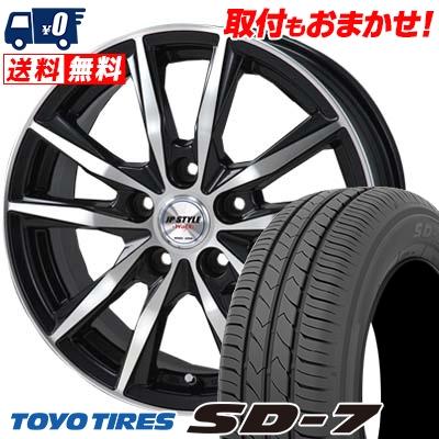 195/65R15 91H TOYO TIRES トーヨー タイヤ SD-7 エスディーセブン JP STYLE WOLX JPスタイル ヴォルクス サマータイヤホイール4本セット