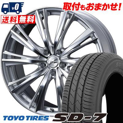 215/55R17 94V TOYO TIRES トーヨー タイヤ SD-7 エスディーセブン weds LEONIS WX ウエッズ レオニス WX サマータイヤホイール4本セット