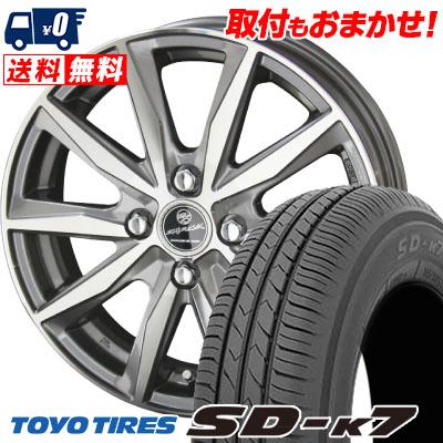 155/65R13 73S TOYO TIRES トーヨー タイヤ SD-K7 エスディーケ-セブン SMACK BASALT スマック バサルト サマータイヤホイール4本セット【取付対象】