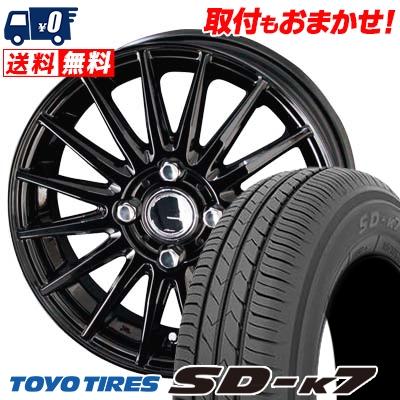 145/80R12 74S TOYO TIRES トーヨー タイヤ SD-K7 エスディーケ-セブン CIRCLAR VERSION DF サーキュラー バージョン DF サマータイヤホイール4本セット