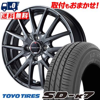 155/55R14 69V TOYO TIRES トーヨー タイヤ SD-K7 エスディーケ-セブン VERTEC ONE Eins.1 ヴァーテック ワン アインス ワン サマータイヤホイール4本セット