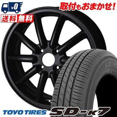 155/65R14 75S TOYO TIRES トーヨー タイヤ SD-K7 エスディーケ-セブン ALGERNON Fenice RX1 アルジェノン フェニーチェ RX1 サマータイヤホイール4本セット