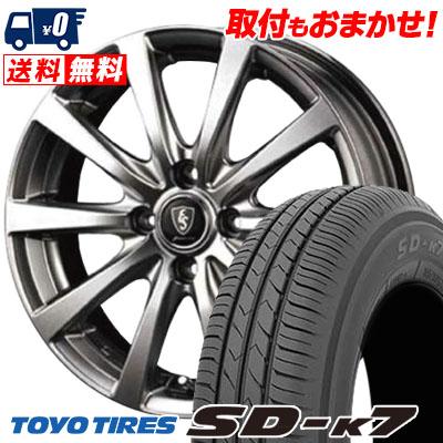 155/70R12 73S TOYO TIRES トーヨー タイヤ SD-K7 エスディーケ-セブン Euro Speed G10 ユーロスピード G10 サマータイヤホイール4本セット
