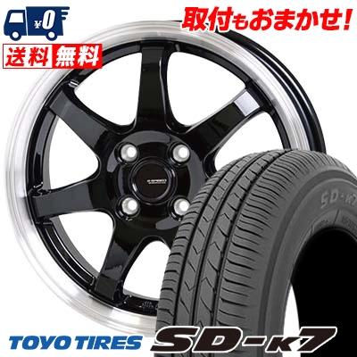 165/55R14 72V TOYO TIRES トーヨー タイヤ SD-K7 エスディーケ-セブン G.speed P-03 ジースピード P-03 サマータイヤホイール4本セット