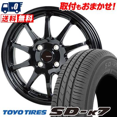 155/70R13 75S TOYO TIRES トーヨー タイヤ SD-K7 エスディーケ-セブン G.speed G-04 Gスピード G-04 サマータイヤホイール4本セット