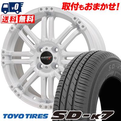 165/55R15 75V TOYO TIRES トーヨー タイヤ SD-K7 エスディーケ-セブン B-MUD X Bマッド エックス サマータイヤホイール4本セット