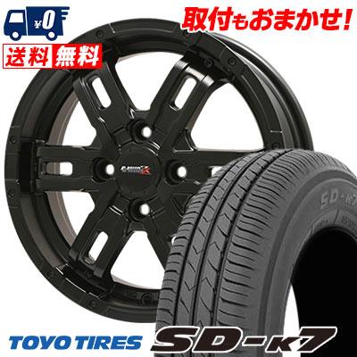 155/55R14 69V TOYO TIRES トーヨー タイヤ SD-K7 エスディーケ-セブン B-MUD Z Bマッド ゼット サマータイヤホイール4本セット