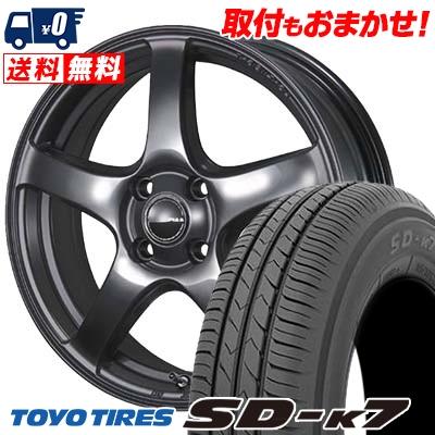 165/55R15 75V TOYO TIRES トーヨー タイヤ SD-K7 エスディーケ-セブン PIAA Eleganza S-01 PIAA エレガンツァ S-01 サマータイヤホイール4本セット