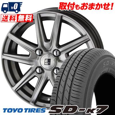 145/80R13 75S TOYO TIRES トーヨー タイヤ SD-K7 エスディーケ-セブン SEIN SS ザイン エスエス サマータイヤホイール4本セット