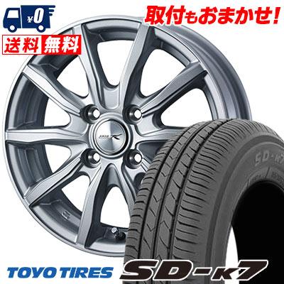 145/80R12 74S TOYO TIRES トーヨー タイヤ SD-K7 エスディーケ-セブン JOKER SHAKE ジョーカー シェイク サマータイヤホイール4本セット