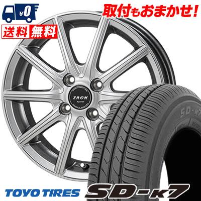 135/80R12 68S TOYO TIRES トーヨー タイヤ SD-K7 エスディーケ-セブン ZACK SPORT-01 ザック シュポルト01 サマータイヤホイール4本セット