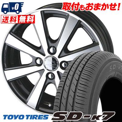 165/65R13 77S TOYO TIRES トーヨー タイヤ SD-K7 エスディーケ-セブン SMACK VIR スマック VI-R サマータイヤホイール4本セット