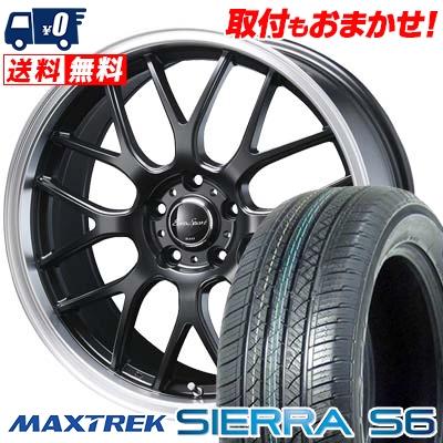 225/65R17 102S MAXTREK マックストレック SIERRA S6 シエラ エスロク Eoro Sport Type 805 ユーロスポーツ タイプ805 サマータイヤホイール4本セット