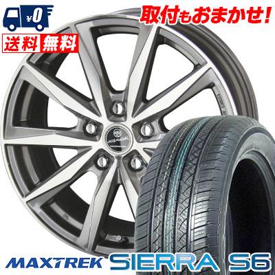 235/50R18 101V XL MAXTREK マックストレック SIERRA S6 シエラ エスロク SMACK BASALT スマック バサルト サマータイヤホイール4本セット