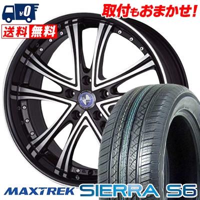 225/65R17 102S MAXTREK マックストレック SIERRA S6 シエラ エスロク Warwic DS.05 ワーウィック DS.05 サマータイヤホイール4本セット