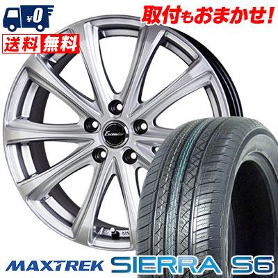 225/50R18 95V MAXTREK マックストレック SIERRA S6 シエラ エスロク Exceeder E04 エクシーダー E04 サマータイヤホイール4本セット