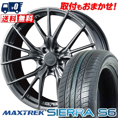 【人気商品】 255/35R20 97W XL MAXTREK マックストレック S6 97W SIERRA S6 シエラ FZ-1 エスロク WEDS F ZERO FZ-1 ウェッズ エフゼロ FZ-1 サマータイヤホイール4本セット, プリテク村:2390abf8 --- anekdot.xyz