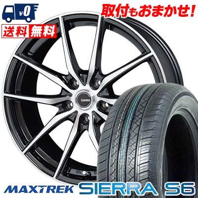 235/50R18 101V XL MAXTREK マックストレック SIERRA S6 シエラ エスロク G.Speed P-02 Gスピード P-02 サマータイヤホイール4本セット