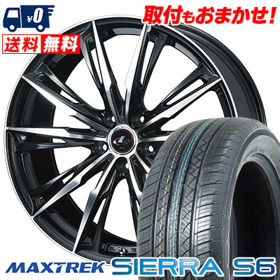 255/35R20 97W XL MAXTREK マックストレック SIERRA S6 シエラ エスロク WEDS LEONIS GX ウェッズ レオニス GX サマータイヤホイール4本セット
