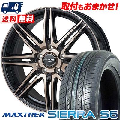 225/55R18 98V MAXTREK マックストレック SIERRA S6 シエラ エスロク JP STYLE JERIVA JPスタイル ジェリバ サマータイヤホイール4本セット