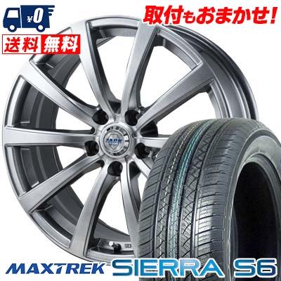 225/55R18 98V MAXTREK マックストレック SIERRA S6 シエラ エスロク ZACK JP-110 ザック JP110 サマータイヤホイール4本セット