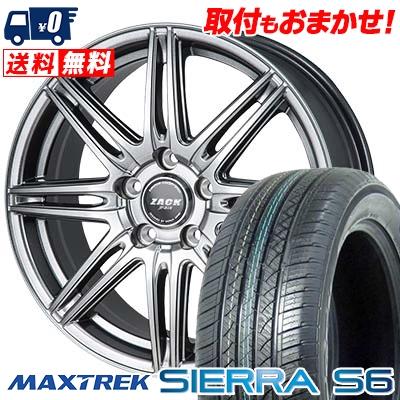 225/65R17 102S MAXTREK マックストレック SIERRA S6 シエラ エスロク ZACK JP-818 ザック ジェイピー818 サマータイヤホイール4本セット【取付対象】