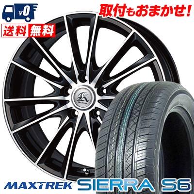 225/65R17 102S MAXTREK マックストレック SIERRA S6 シエラ エスロク Kashina FV7 カシーナ FV7 サマータイヤホイール4本セット