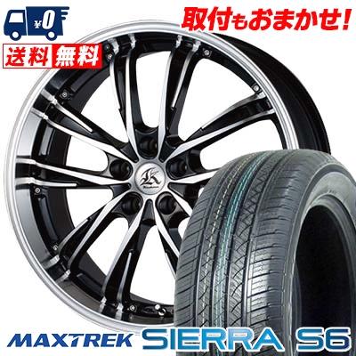225/55R18 98V MAXTREK マックストレック SIERRA S6 シエラ エスロク Kashina XV5 カシーナ XV5 サマータイヤホイール4本セット
