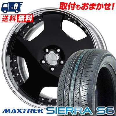 235/60R18 103H MAXTREK マックストレック SIERRA S6 シエラ エスロク WORK LANVEC LD1 ワーク ランベック エルディーワン サマータイヤホイール4本セット