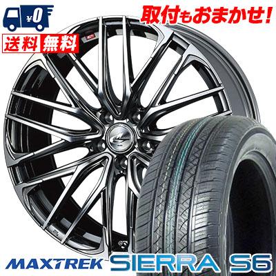 235/60R18 103H MAXTREK マックストレック SIERRA S6 シエラ エスロク WEDS LEONIS SK ウェッズ レオニスSK サマータイヤホイール4本セット