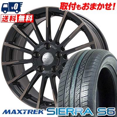 235/50R18 101V XL MAXTREK マックストレック SIERRA S6 シエラ エスロク Leyseen F-XV レイシーン FX-V サマータイヤホイール4本セット