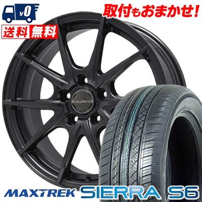 225/55R18 98V MAXTREK マックストレック SIERRA S6 シエラ エスロク LeyBahn WGS レイバーン WGS サマータイヤホイール4本セット