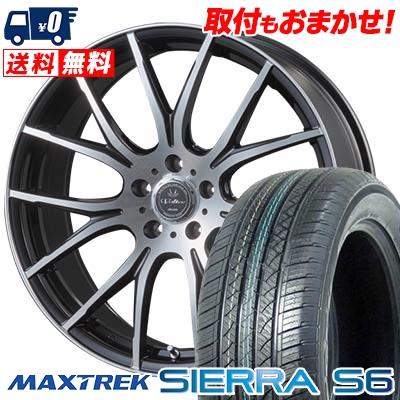 225/55R18 98V MAXTREK マックストレック SIERRA S6 シエラ エスロク VOLTEC HYPER MS-7 ボルテック ハイパー MS-7 サマータイヤホイール4本セット