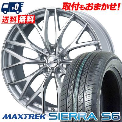 235/60R18 103H MAXTREK マックストレック SIERRA S6 シエラ エスロク weds LEONIS MX ウェッズ レオニス MX サマータイヤホイール4本セット