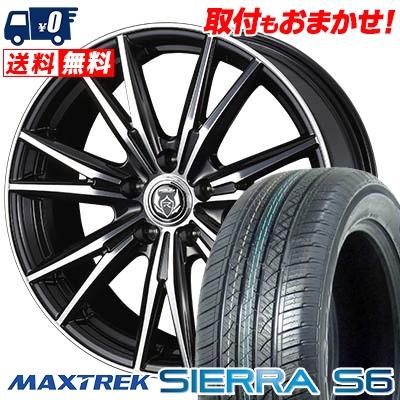 225/55R18 98V MAXTREK マックストレック SIERRA S6 シエラ エスロク WEDS RIZLEY DK ウェッズ ライツレーDK サマータイヤホイール4本セット