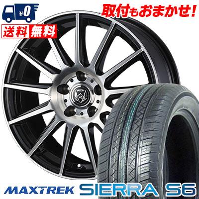 235/50R18 101V XL MAXTREK マックストレック SIERRA S6 シエラ エスロク WEDS RIZLEY KG ウェッズ ライツレーKG サマータイヤホイール4本セット