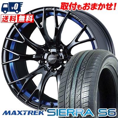 235/60R18 103H MAXTREK マックストレック SIERRA S6 シエラ エスロク WedsSport SA-20R ウェッズスポーツ SA20R サマータイヤホイール4本セット