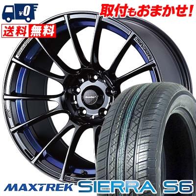 235/60R18 103H MAXTREK マックストレック SIERRA S6 シエラ エスロク WedsSport SA-72R ウェッズスポーツ SA-72R サマータイヤホイール4本セット