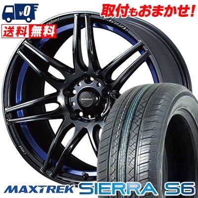 235/60R18 103H MAXTREK マックストレック SIERRA S6 シエラ エスロク wedsSport SA-77R ウェッズスポーツ SA-77R サマータイヤホイール4本セット