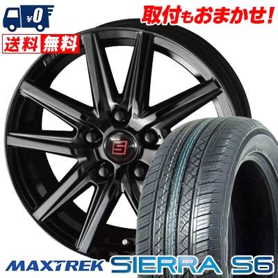 225/55R18 98V MAXTREK マックストレック SIERRA S6 シエラ エスロク SEIN SS BLACK EDITION ザイン エスエス ブラックエディション サマータイヤホイール4本セット