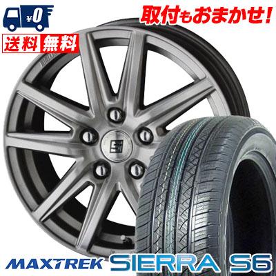 235/50R18 101V XL MAXTREK マックストレック SIERRA S6 シエラ エスロク SEIN SS ザイン エスエス サマータイヤホイール4本セット