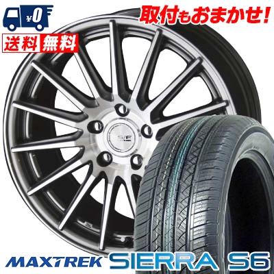 225/65R17 102S MAXTREK マックストレック SIERRA S6 シエラ エスロク STEINER FORCED SERIES SF-X シュタイナー フォースドシリーズ SF-X サマータイヤホイール4本セット