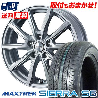 235/60R18 103H MAXTREK マックストレック SIERRA S6 シエラ エスロク JOKER SHAKE ジョーカー シェイク サマータイヤホイール4本セット