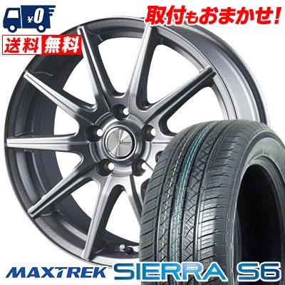 235/60R18 103H MAXTREK マックストレック SIERRA S6 シエラ エスロク V-EMOTION SR10 Vエモーション SR10 サマータイヤホイール4本セット