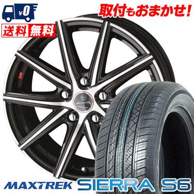225/55R18 98V MAXTREK マックストレック SIERRA S6 シエラ エスロク SMACK PRIME SERIES VANISH スマック プライムシリーズ ヴァニッシュ サマータイヤホイール4本セット