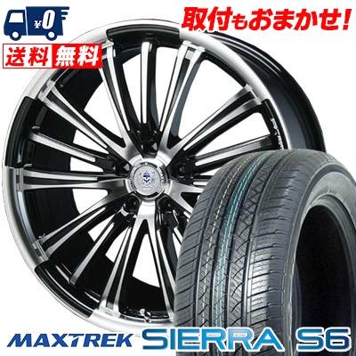 225/65R17 102S MAXTREK マックストレック SIERRA S6 シエラ エスロク BAHNS TECK VR-01 バーンズテック VR01 サマータイヤホイール4本セット