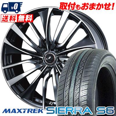 225/55R18 98V MAXTREK マックストレック SIERRA S6 シエラ エスロク weds LEONIS VT ウエッズ レオニス VT サマータイヤホイール4本セット