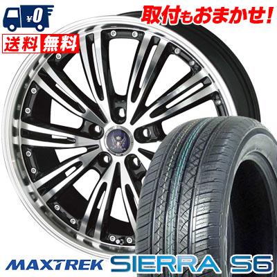 225/65R17 102S MAXTREK マックストレック SIERRA S6 シエラ エスロク STEINER WX5 シュタイナー WX5 サマータイヤホイール4本セット